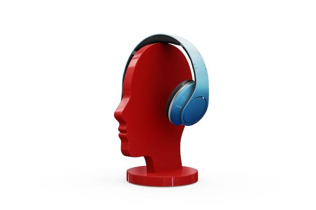 Mock-up de fones de ouvido isolado