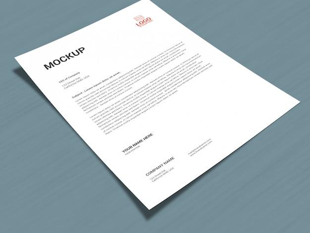 Mock-up de página a4