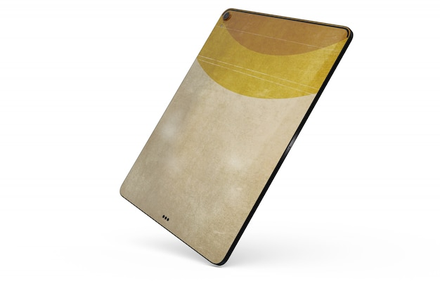 Mock-up de pele de tablet isolado