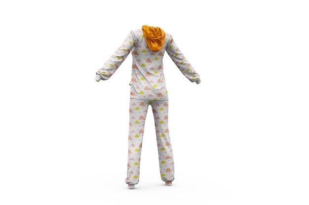 Mock-up de pijama isolado