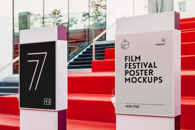 Mock-up de pôsteres do festival de cinema