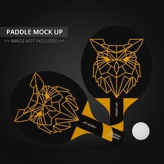 Mock up de raquete de tênis de mesa - dois conjuntos de remo