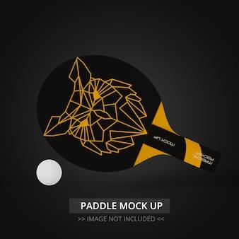 Mock up de raquete de tênis de mesa -