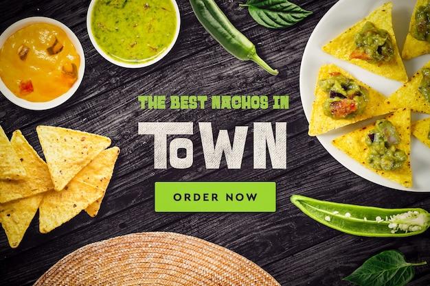 Mock-up de restaurante mexicano
