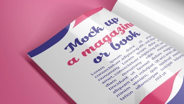 Mock up de revista tamanho a4 ou livro em posições diferentes, além de sombra