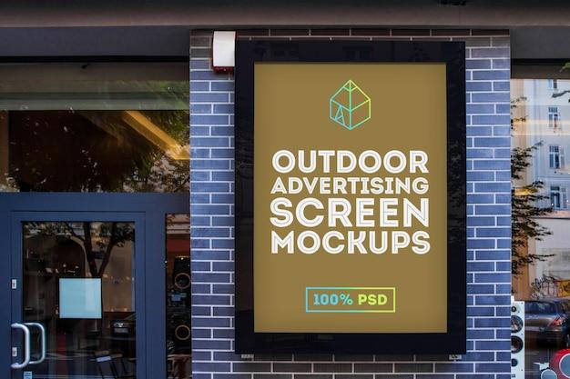 Mock-up de tela de publicidade externa