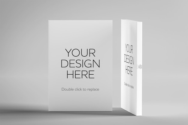 Mock up de um livro branco renderização em 3d