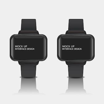 Mock up design de interface de exibição digital para relógio inteligente