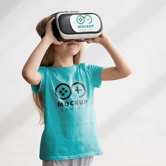 Mock-up do conceito de crianças e tecnologia