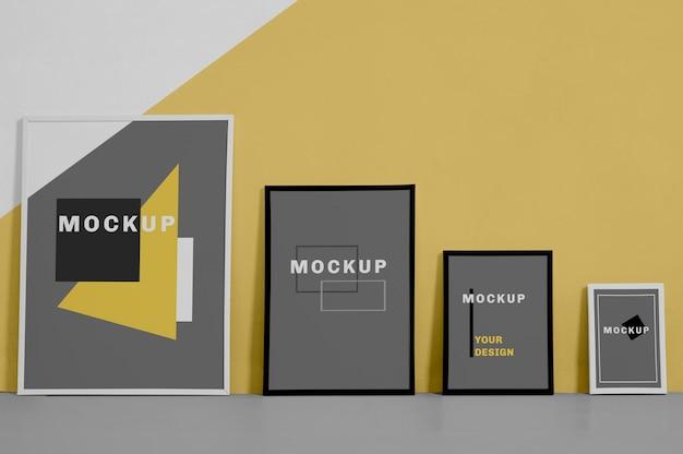 Mock up frame de diferentes tamanhos