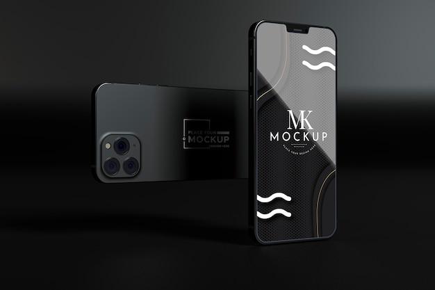 Mock-up novo pacote de telefone