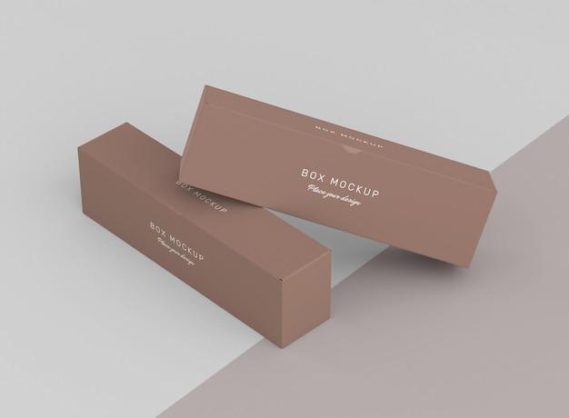 Mock-up para armazenamento de caixa de papelão Psd grátis