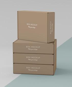 Mock-up para armazenamento de caixa de papelão