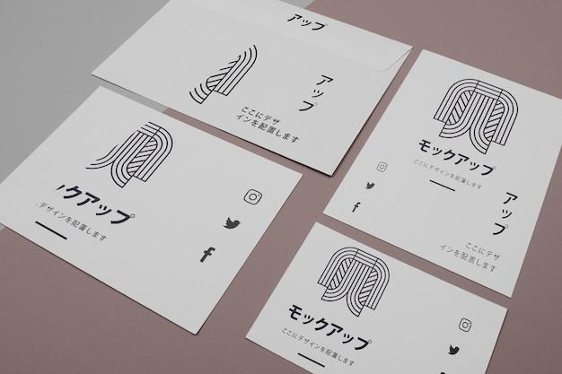 Mock-up para empresa japonesa em documentos