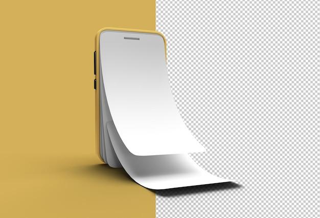 Mock-up smart phone com tela vazia protetor de tela de vidro transparente arquivo psd.