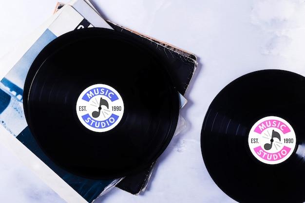 Mock-up vinil de música