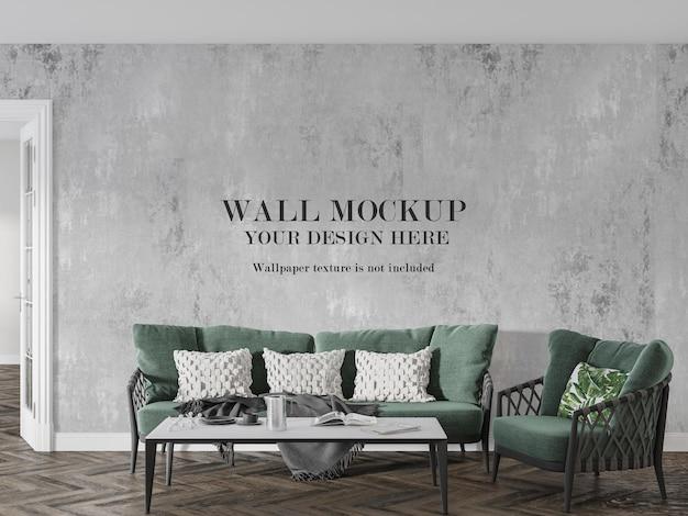 Mock up wall para seus trabalhos criativos