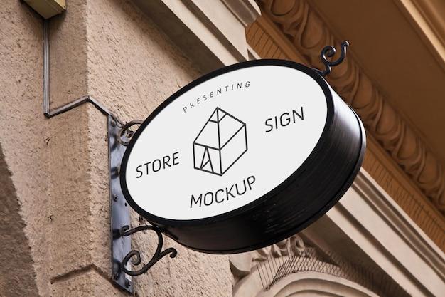 Mock-ups de letreiros de lojas