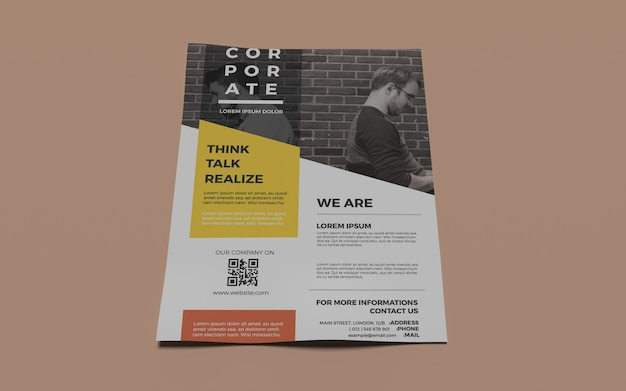 Mock-ups photorealistic a4 flyer
