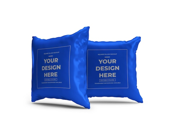 Mockup 3d square pillow