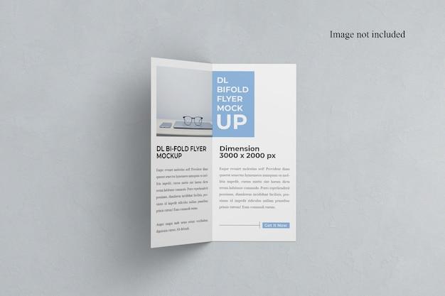 Mockup bi-fold dl flyer aberto