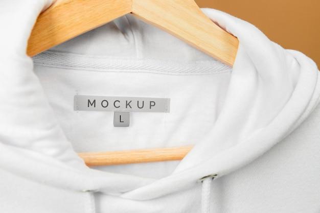 Mockup capuz close up