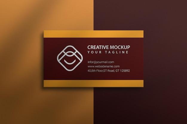 Mockup cartão de visita premium psd