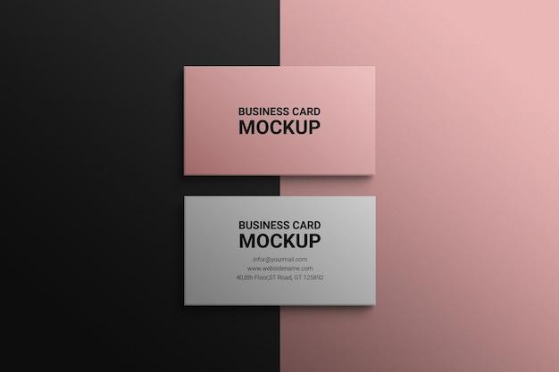 Mockup cartão de visita psd