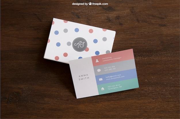 Mockup creative business card