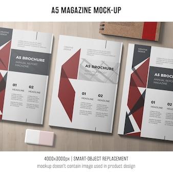 Mockup criativo da revista a5