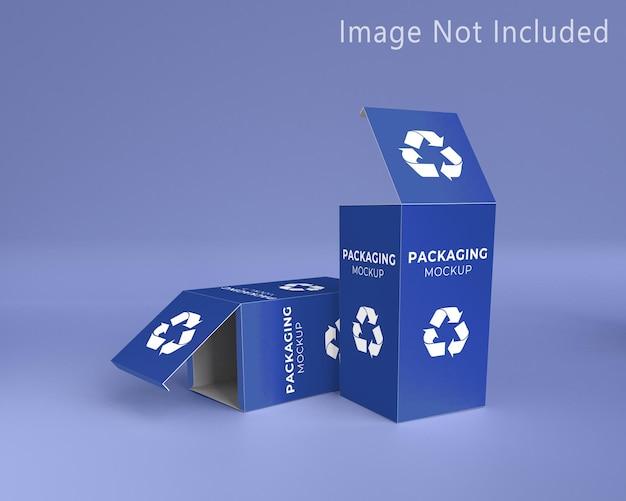 Mockup da caixa de embalagem criativa