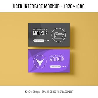 Mockup da interface do usuário
