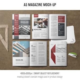 Mockup da revista a5
