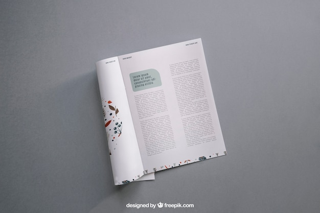 Mockup da revista moderna