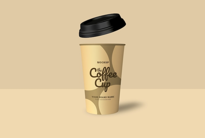 Mockup da xícara de café para levar