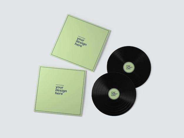Mockup de álbuns de discos vynil