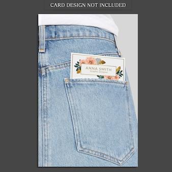 Mockup de bolso de calças de ganga