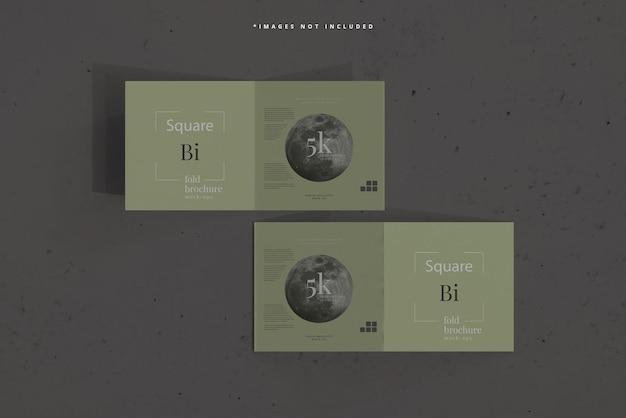 Mockup de brochura quadrada com dobra dupla