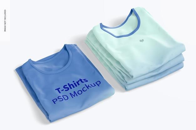 Mockup de camisetas dobradas