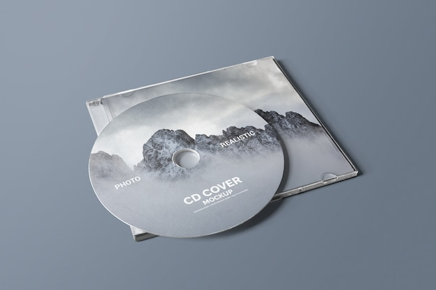 Mockup de capa de cd / dvd