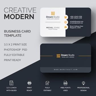 Mockup de cartão de visita profissional