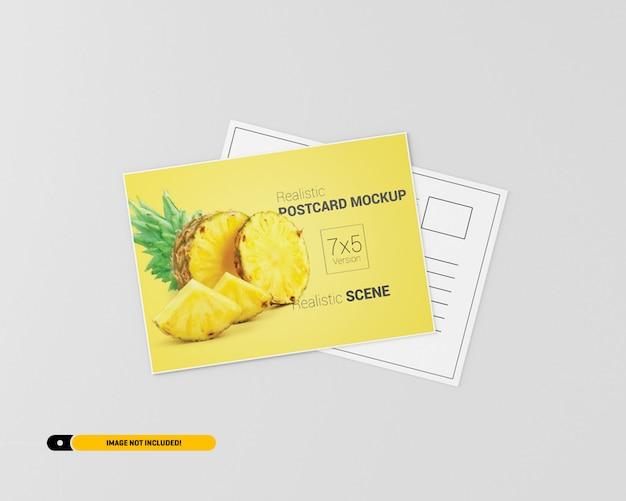 Mockup de cartão postal