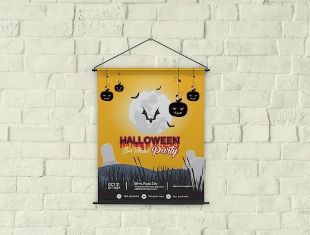 Mockup de cartaz de banner