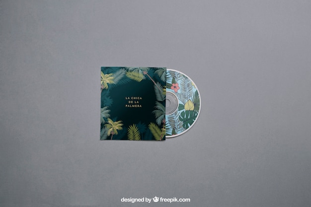 Mockup de cd moderno