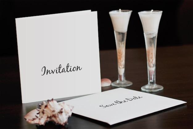Mockup de convite