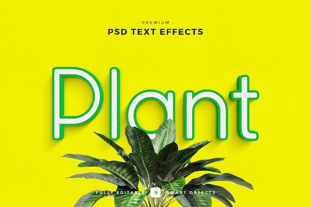 Mockup de efeito de texto de planta