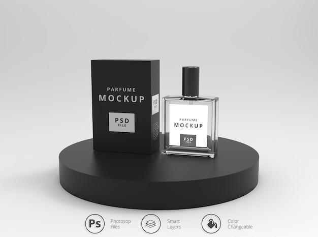 Mockup de embalagem de perfume