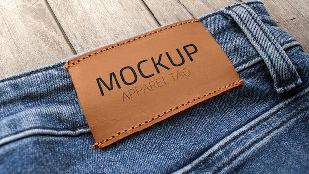 Mockup de etiqueta de vestuário