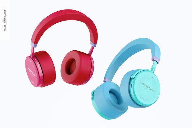 Mockup de fones de ouvido, flutuante