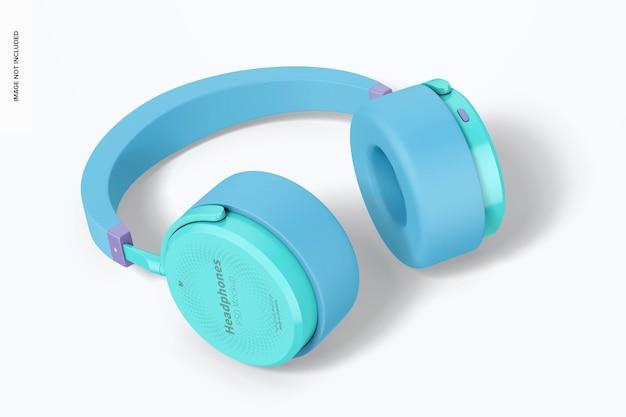 Mockup de fones de ouvido, vista esquerda